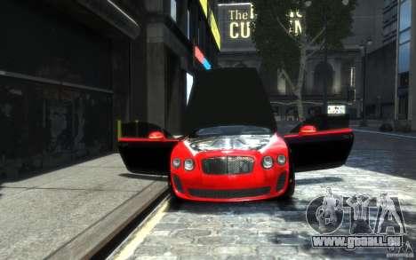 Bentley Continental SS MansorY für GTA 4 Innen