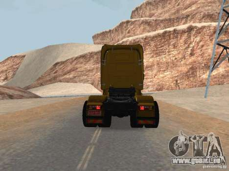 Scania R440 pour GTA San Andreas sur la vue arrière gauche