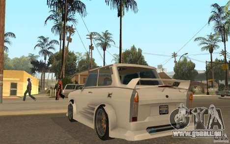 Trabant 601S Tuning pour GTA San Andreas sur la vue arrière gauche