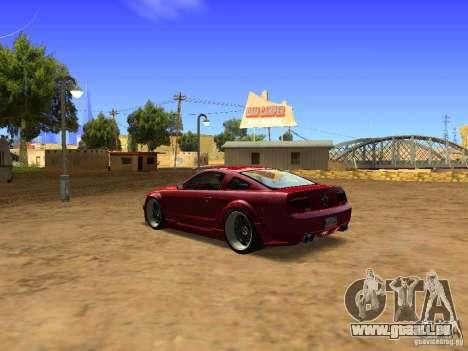 Ford Mustang GT 2005 Tuned für GTA San Andreas rechten Ansicht