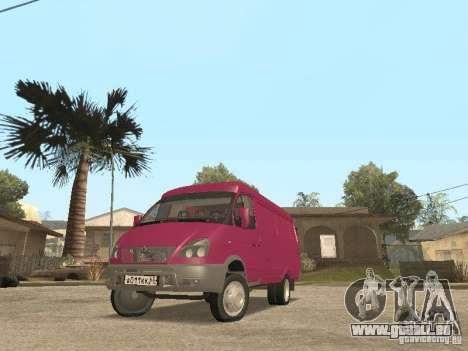 Gazelle 2705 pour GTA San Andreas vue de côté