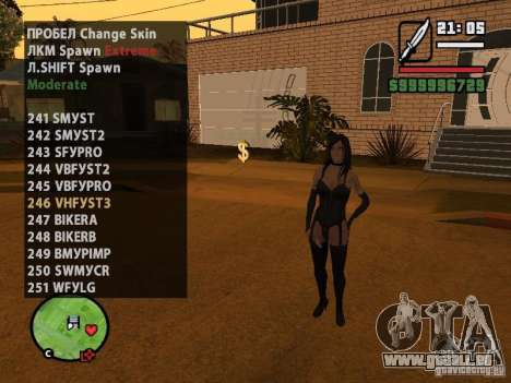 GTA IV peds to SA pack 100 peds pour GTA San Andreas neuvième écran