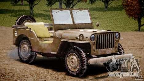 Jeep Willys [Final] pour GTA 4 est une vue de l'intérieur