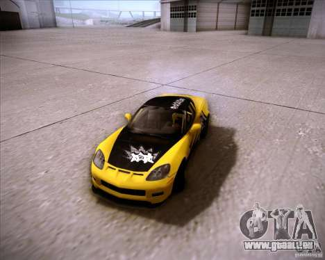 Chevrolet Corvette C6 super promotion pour GTA San Andreas vue arrière
