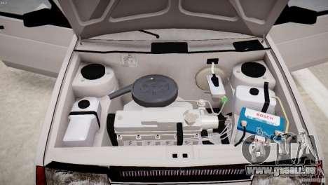 VAZ 21099 Satellite pour GTA 4 Vue arrière