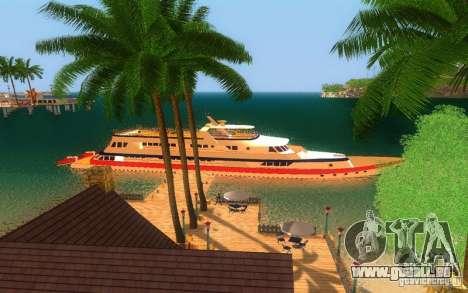 Korteza yacht de Vice City pour GTA San Andreas