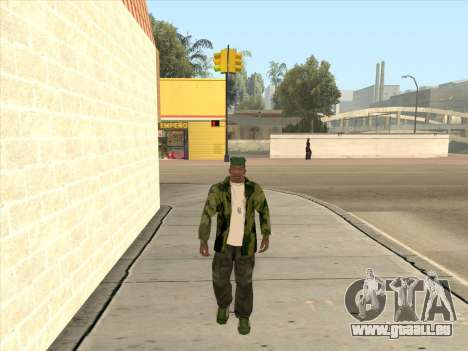 Veste camouflage pour GTA San Andreas quatrième écran