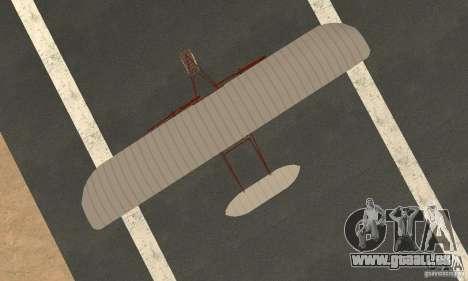 The Wright Flyer für GTA San Andreas rechten Ansicht