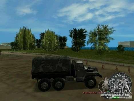 Ural 4320 militaire pour une vue GTA Vice City de l'intérieur