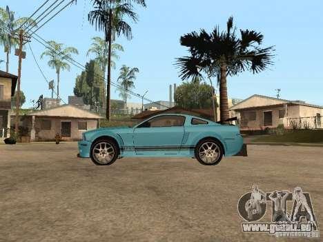 Ford Mustang GT 500 pour GTA San Andreas laissé vue