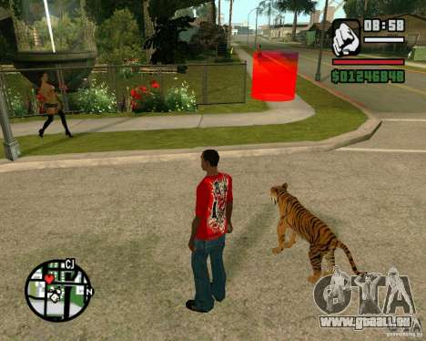Tiger in GTA San Andreas für GTA San Andreas dritten Screenshot