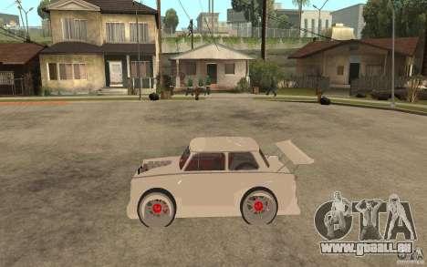 Trabant 601 Hardcore Tuning pour GTA San Andreas laissé vue