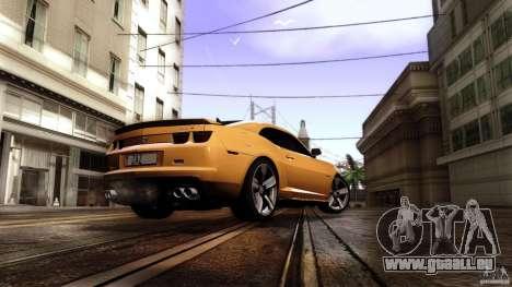 Chevrolet Camaro ZL1 2011 v1.0 pour GTA San Andreas laissé vue