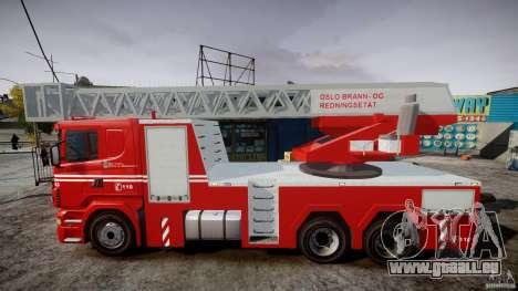 Scania Fire Ladder v1.1 Emerglights red [ELS] für GTA 4 linke Ansicht