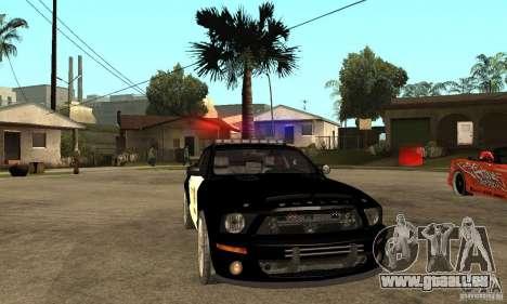 Shelby GT500KR Edition POLICE pour GTA San Andreas vue arrière