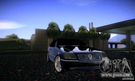 Mercedes-Benz 600SEC für GTA San Andreas Seitenansicht
