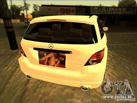 Mercedes Benz R350 pour GTA San Andreas sur la vue arrière gauche