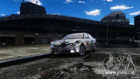 Nissan Laurel GC35 Itasha pour GTA 4 Vue arrière