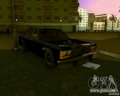 Ford Crown Victora LTD 1985 für GTA Vice City obere Ansicht
