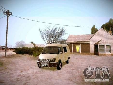 GAZ 2217 Business für GTA San Andreas Rückansicht
