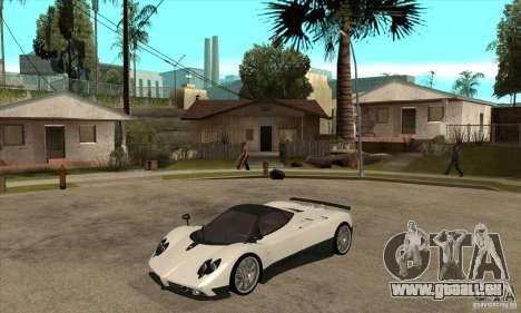Pagani Zonda F Speed Enforcer BETA pour GTA San Andreas laissé vue