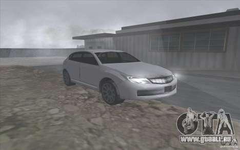 SA Subaru Impreza-style pour GTA San Andreas laissé vue