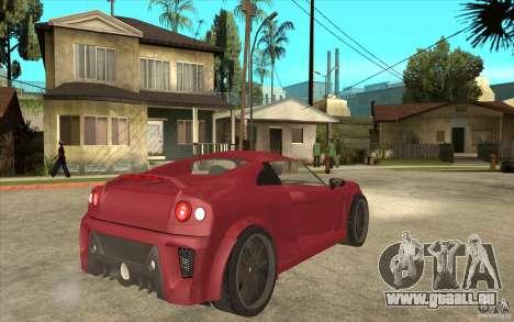 Mastretta MXT pour GTA San Andreas vue de droite