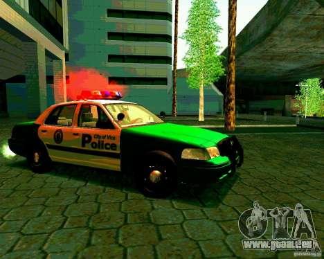 Ford Crown Victoria 2003 Police Interceptor VCPD pour GTA San Andreas vue arrière
