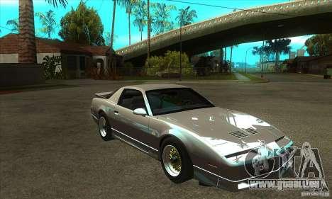 Pontiac Trans AM 1987 für GTA San Andreas Rückansicht