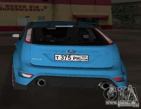 Ford Focus RS 2009 für GTA Vice City zurück linke Ansicht