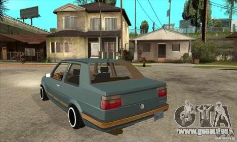Volkswagen Jetta MKII VR6 pour GTA San Andreas sur la vue arrière gauche