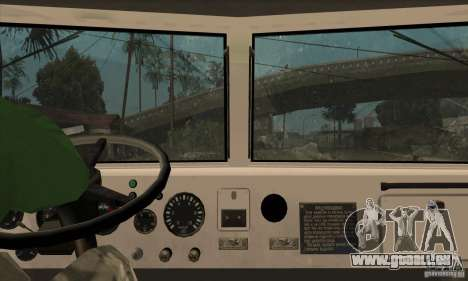 Camion à benne basculante KRAZ 225 pour GTA San Andreas vue de dessous
