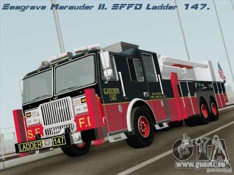 Seagrave Marauder II. SFFD Ladder 147 für GTA San Andreas