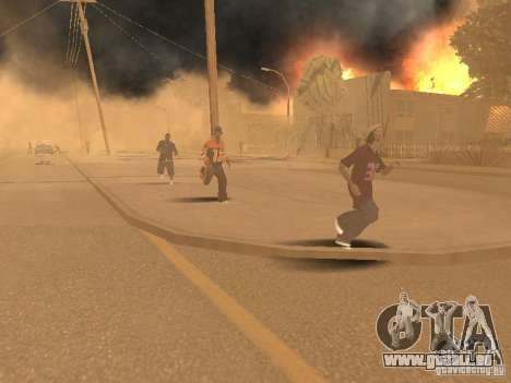 Tremblement de terre pour GTA San Andreas cinquième écran
