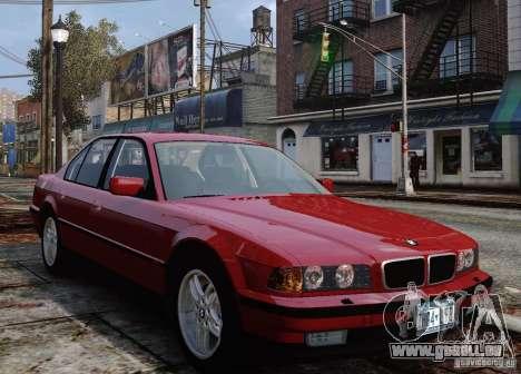 BMW 750i E38 1998 M-Packet pour GTA 4