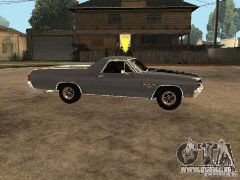 Chevrolet El Camino SS 454 1970 pour GTA San Andreas laissé vue