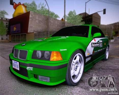 BMW M3 E36 1995 pour GTA San Andreas vue intérieure