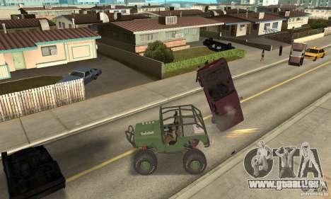 Jeep Willys Rock Crawler pour GTA San Andreas laissé vue