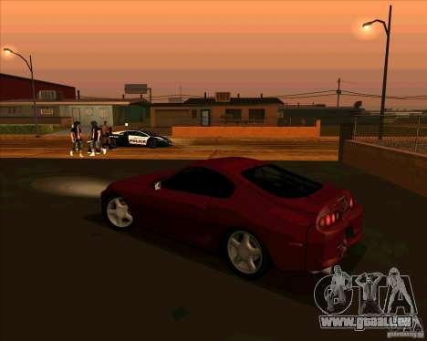 Toyota Supra NFS Most Wanted für GTA San Andreas linke Ansicht