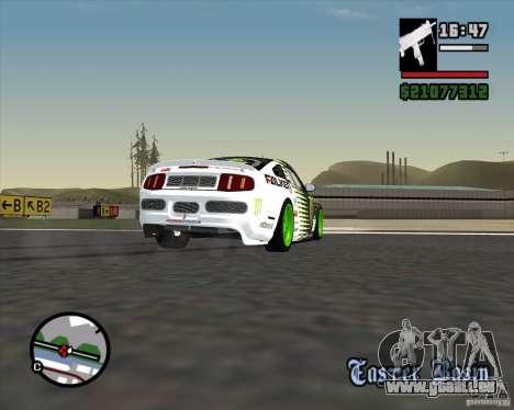Ford Mustang GT 2010 Vaughn Gittin Jr für GTA San Andreas Seitenansicht