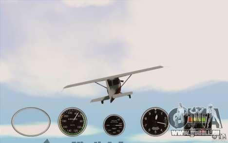 Instruments de l'air dans un avion pour GTA San Andreas troisième écran