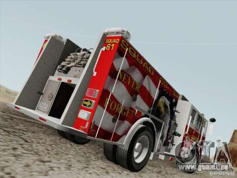 Seagrave Marauder. F.D.N.Y. Squad 61. pour GTA San Andreas vue de droite