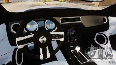Ford Shelby GT500 2013 pour GTA 4 Vue arrière
