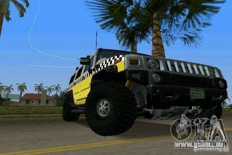 Hummer H2 SUV Taxi pour une vue GTA Vice City de la droite