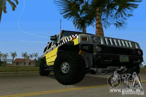 Hummer H2 SUV Taxi für GTA Vice City rechten Ansicht