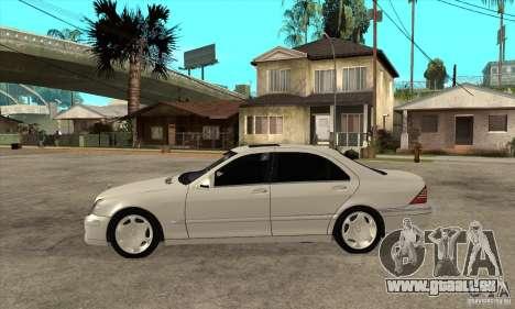 Mercedes Benz S600 pour GTA San Andreas laissé vue