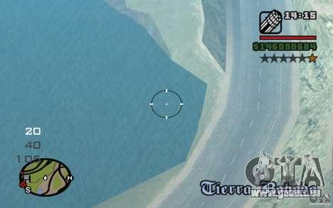AC-130 Spectre für GTA San Andreas zurück linke Ansicht