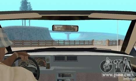Chevrolet Camaro RS 1991 Convertible pour GTA San Andreas vue intérieure