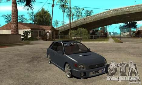 Subaru Impreza Universal pour GTA San Andreas vue de côté