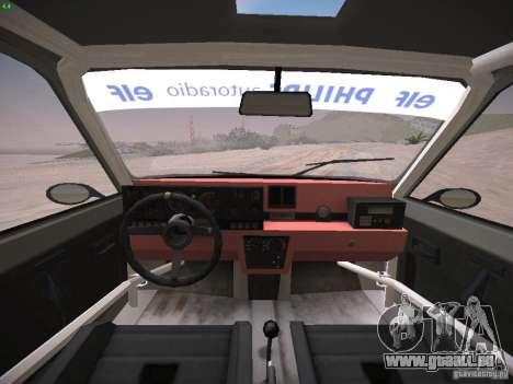 Renault 5 Turbo pour GTA San Andreas vue arrière
